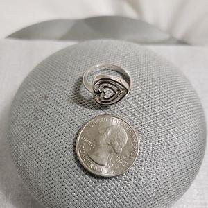 Sterling Silver(925) Swirl Heart ❤️ Ring